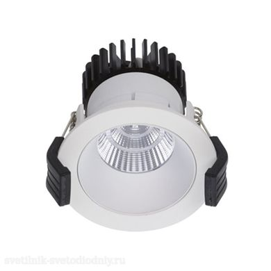 СТ Светильник Downlight встраиваемый 10Вт COOL 07 WH/WH D45 3000K with driver 1412000880 EUROLED